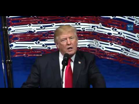President Trump Speech On Buy America Hire America Before Signing Executive Order! 04/18/2017