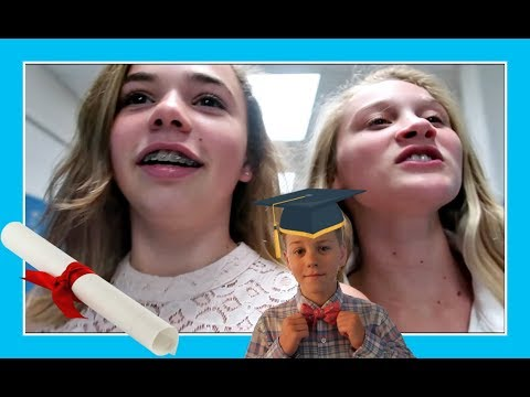 KATIE'S ELEMENTARY SCHOOL TOUR at RYAN'S GRADUATION | Flippin' Katie