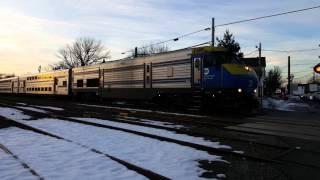 Conmuter train in Port Jefferson Station