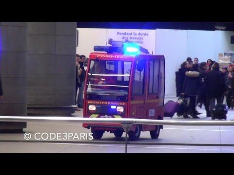 Sapeurs Pompiers VPI Gare Montparnasse // First Response Vehicle in Paris Train Station
