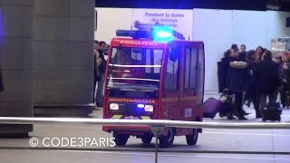 Sapeurs Pompiers VPI Gare Montparnasse // First Response Vehicle in Paris Train Station