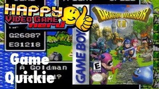 HVGN Game Quickie: Dragon Warrior I & II (GBC)