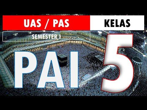 Latihan Soal UAS PAS PAI BP Kelas 5 SD Kurikulum 2013 Semester 1 (Ganjil) dan Kunci Jawaban