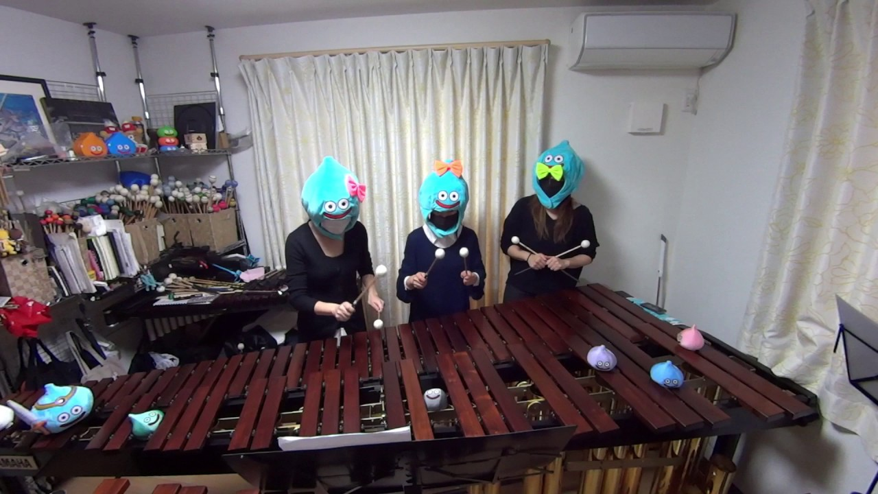 Percussionists recreate classic 8-bit video game music with enormous