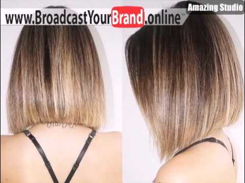 A line straight bob with ombre highlights youtube a line straight bob with ombre highlights just hair time pmusecretfo Image collections
