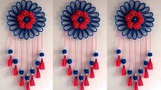 DIY Easy Woolen and Newspaper Wall Hanging Idea !!! DIY ROOM DECOR & Home Decorative Idea