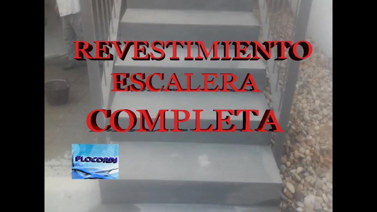 revestimiento de escalera completa youtube