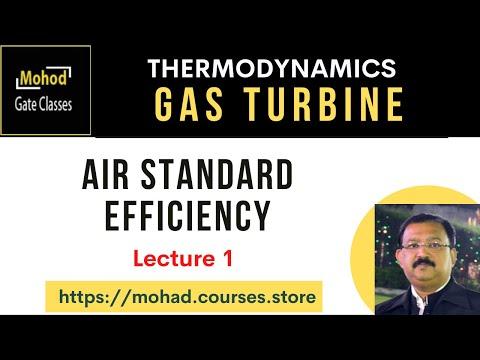 Gas Turbine 01 Air Standard efficiency - YouTube