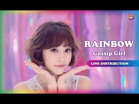 Line Distribution: Rainbow - Gossip Girl (Color Coded)
