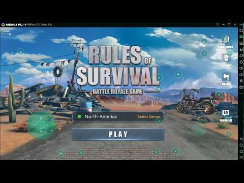 How to set key mapping and play rules of survival on PC keyboard
