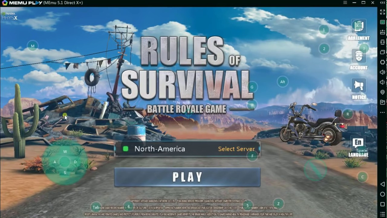 How to set key mapping and play rules of survival on PC