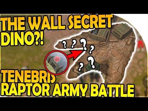THE WALL SECRET MASSIVE DINO - TENEBRIS RAPTOR ARMY BATTLE - Last Day on Earth Jurassic Survival