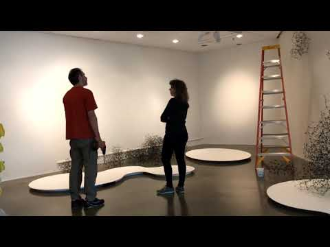 Installing at American University Museum August 2017
