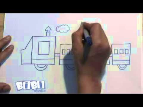 Họa sỹ tí hon  Vẽ tàu hỏa - YouTube