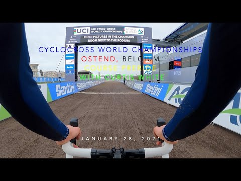 2021 Cyclocross World Championships Course Preride with Curtis White - Ostend, Belgium