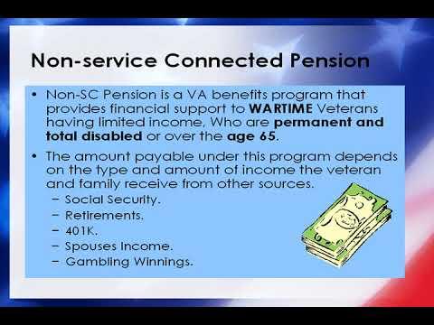 Nye County Veterans Services Benefits Course 2007 -Non SC Pension