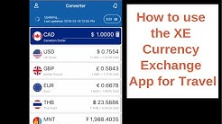 How to use the XE Currency Exchange App