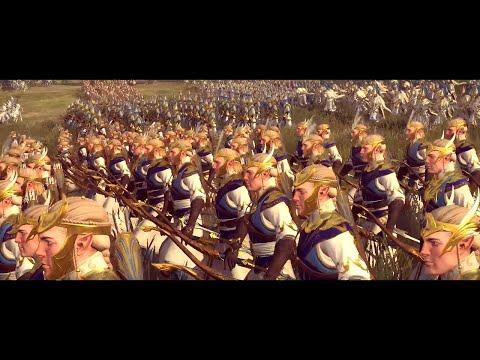 Battle of White Tower   Total War: Warhammer 2 Epic cinematic movie   High Elves massive Home War