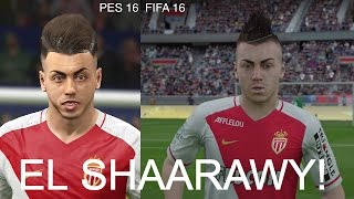 STEPHAN EL SHAARAWY IN FIFA 16 AND PES 2016! (Face Review) #34