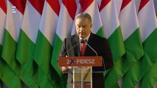 Fidesz-kampányzáró: Orbán Viktor teljes beszéde - ECHO TV