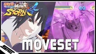 Naruto Ultimate Ninja Storm 4 - Rinnegan Sasuke COMPLETE Moveset