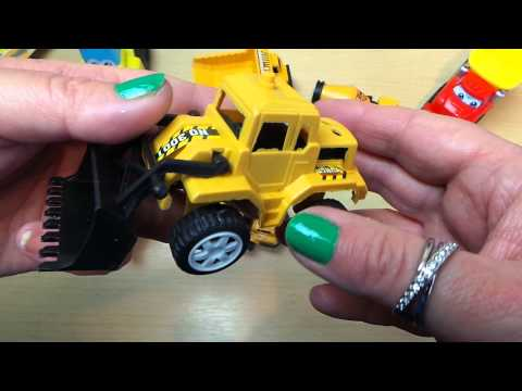 Opening the Poundland 4 x Truck Set including Bulldozer and Cement Mixer Lorry