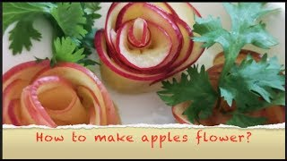 How to make apple flowers? | apple desserts without oven | apple recipes | apple design cutting