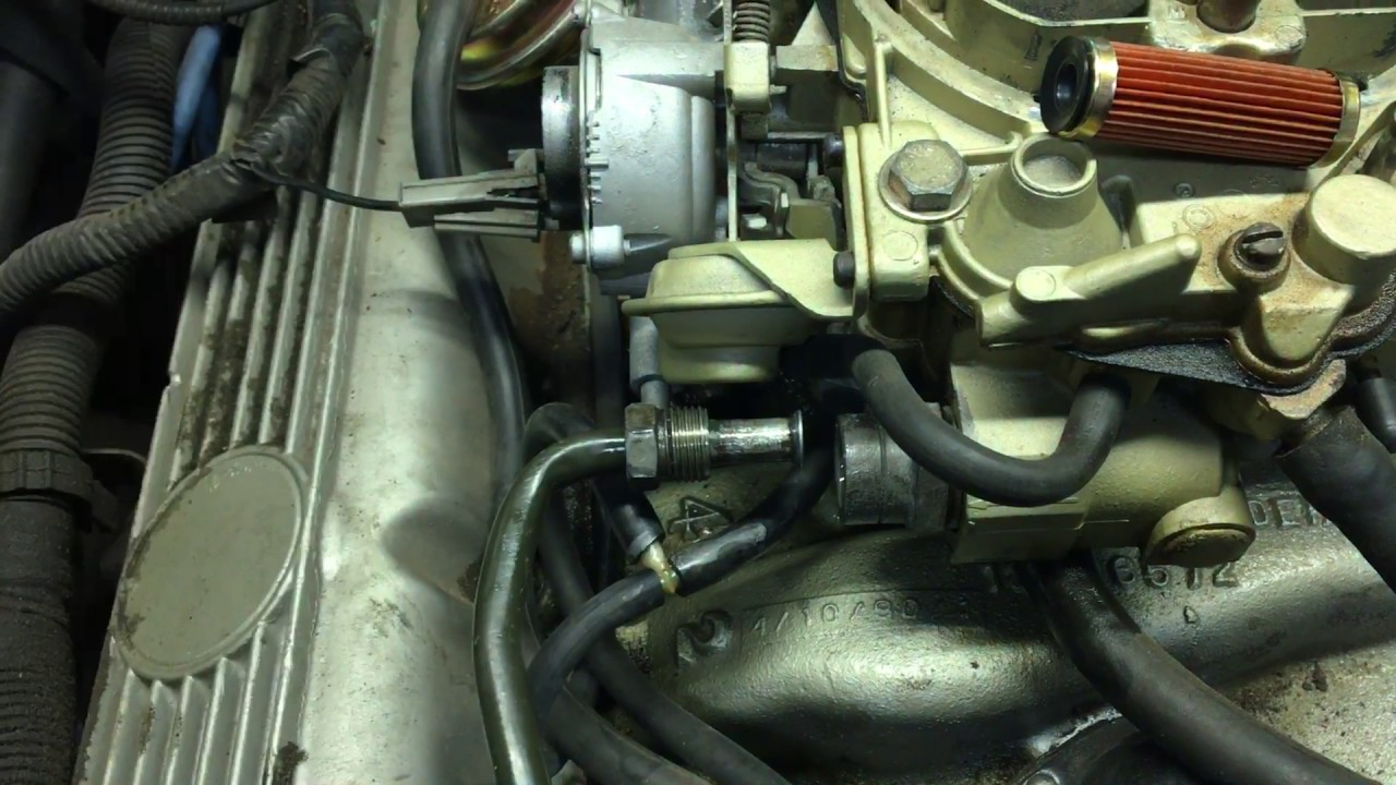 Changing carburetor fuel filter - YouTube