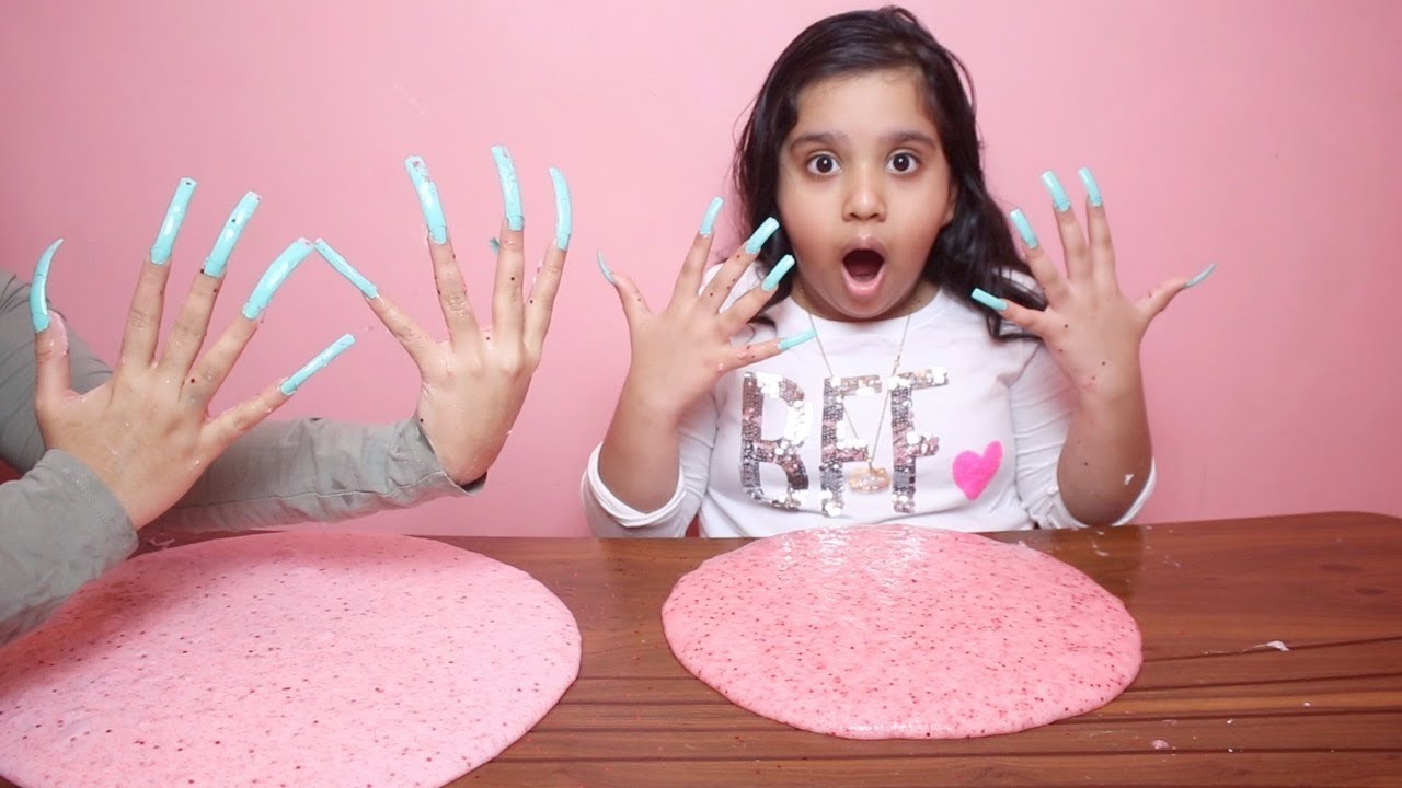 تحدي لا تسوي سلايم بأطول أظافر في العالم Don T Make Slime With Super Long Acrylic Nail Challenge Youtube