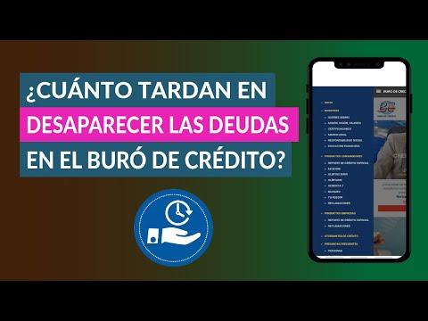 ¿Cuánto Tardan en Desaparecer Todas las Deudas en el Buró de Crédito?