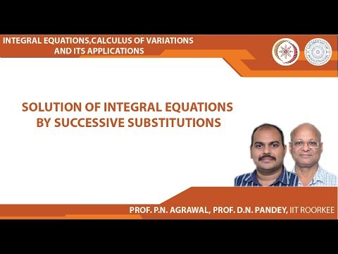 Solution of integral equations by successive substitutions