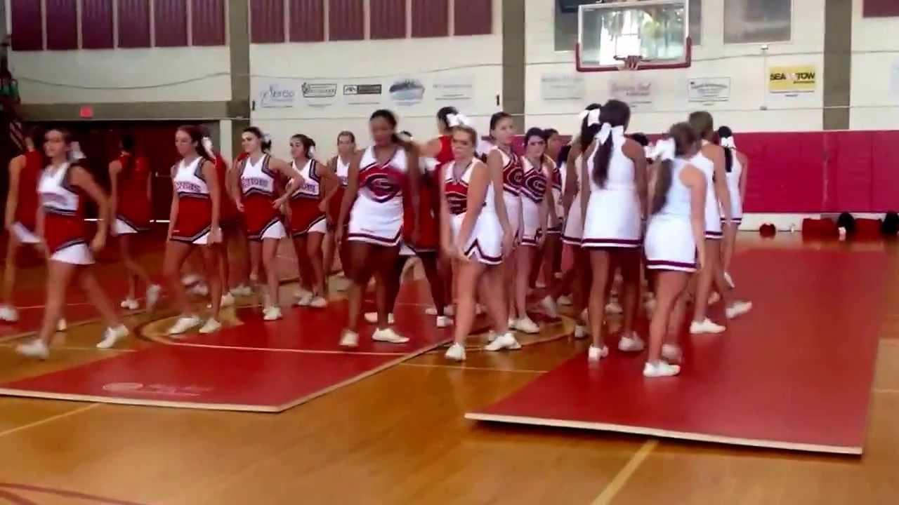 Glynn Academy High School pep Rally Cheerleading Dance 2013