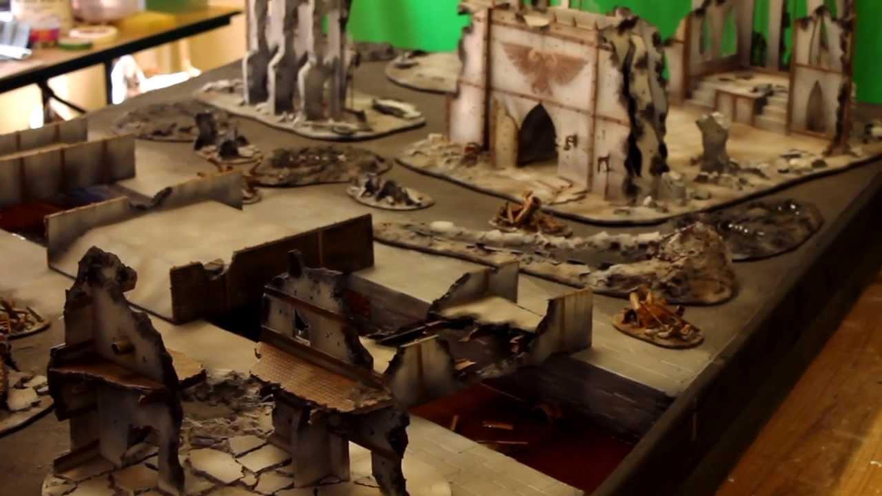 Warhammer 40k City Board - Miniwargaming - YouTube
