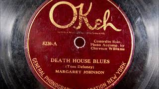 DEATH HOUSE BLUES Blues by Margaret Johnson 1925