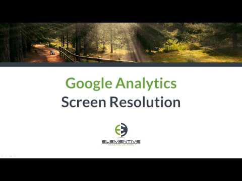 Google Analytics Screen Resolution