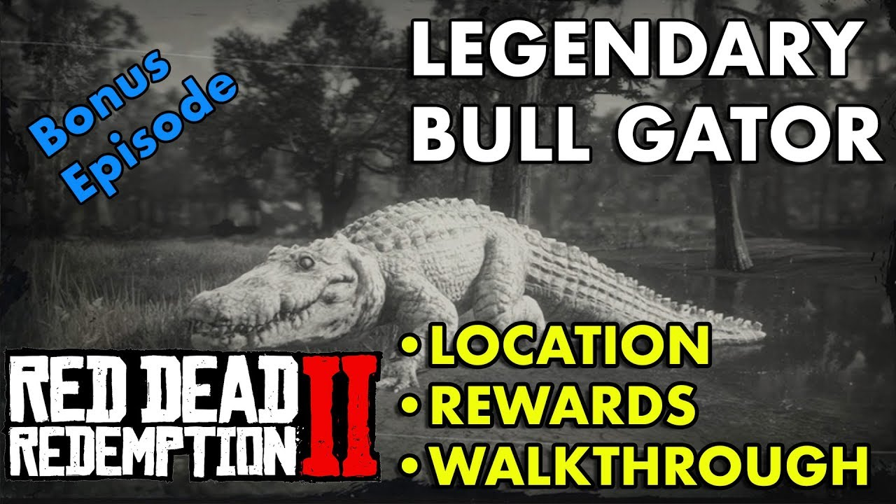 Red Dead Redemption 2 - Legendary Bull Gator (Location, Rewards,  Walkthrough)