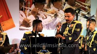 Sri Lanka Air Force (SLAF) Military band participating IAF