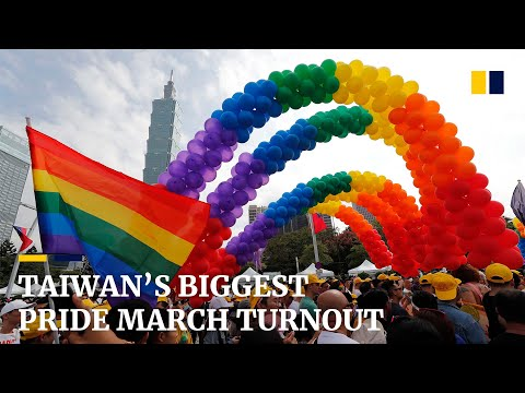 Taiwan's biggest pride march after same-sex marriage legalised from YouTube · Duration:  1 minutes 53 seconds