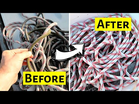 How To Wash Ropes & Lines | ⛵ Sailing Britaly ⛵