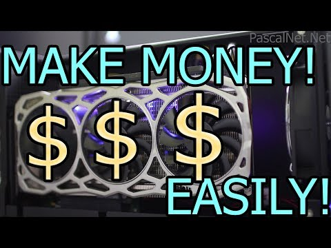 Make Money $ With Your Computer GPU/CPU Easily NiceHash Mining! Instant Bitcoin Profit!