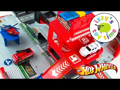 Cars for Kids | Hot Wheels Toys and Fast Lane Fire City Playset - Fun Toy Cars for Kids