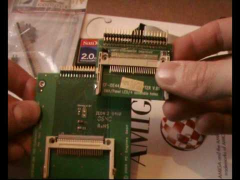 Installing Compact Flash Card as harddrive In Amiga part 1
