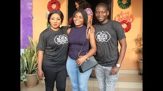 See Mide Martins  husbandAfeez Owo dancing and having fun at Zanzees boutique