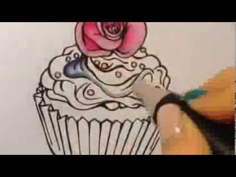 Dessin cupcake youtube - Dessin cupcake ...
