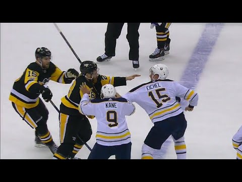 Penguins' Cole answers to Sabres' Eichel after huge hit on Reinhart