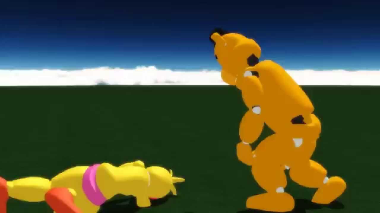FNAFMMD Toy Chica Vs Golden Freddy