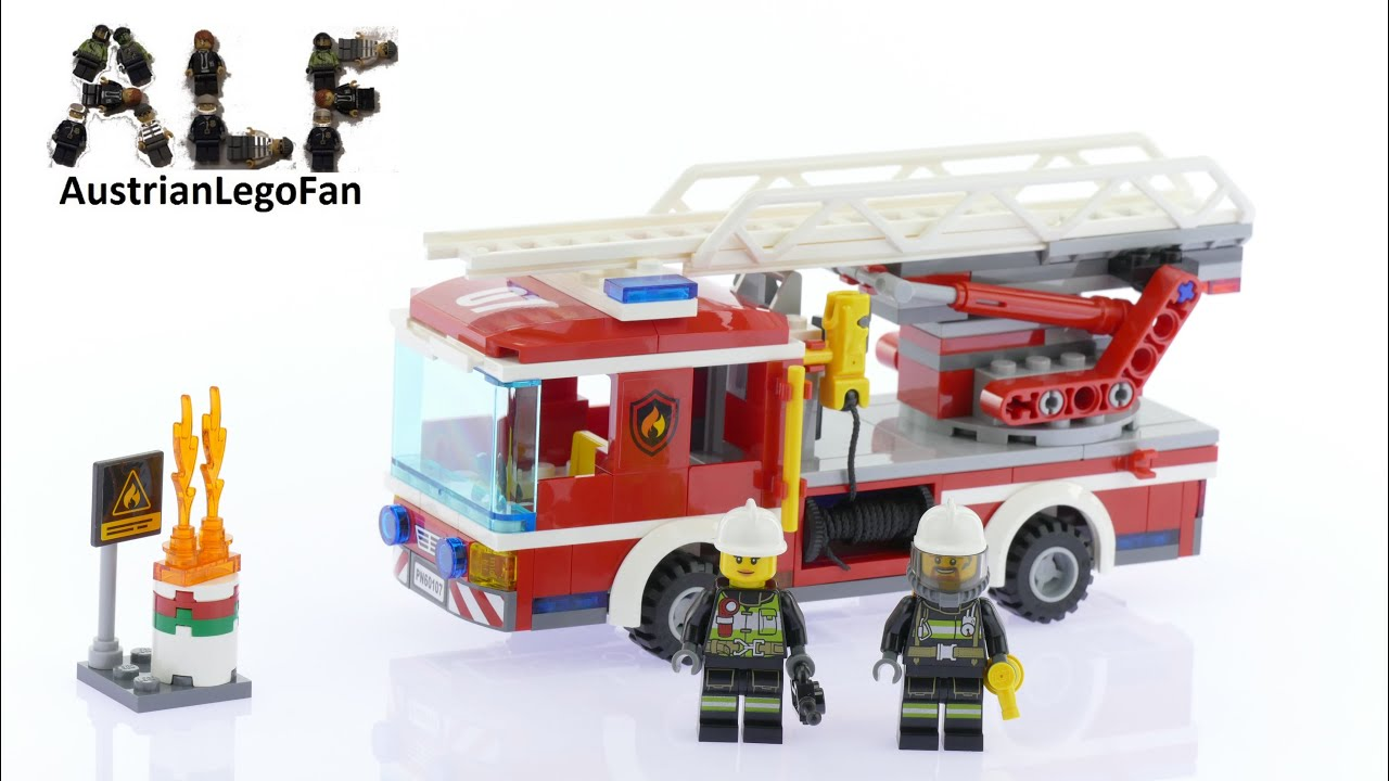 Lego City 60107 Fire Ladder Truck Lego Speed Build