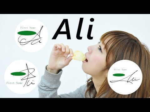 "How to draw the impressive ""Ali"" of the signature! - 1 -"
