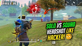 Solo vs Squad Play Like Hacker OverPower Gameplay - Garena Free Fire