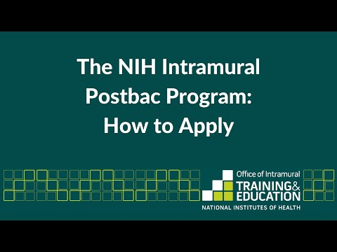 How To Apply The NIH Intramural Postbac Program